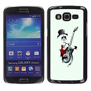 TopCaseStore / la caja del caucho duro de la cubierta de protección de la piel - Rock Guitar Player Cool - Samsung Galaxy Grand 2 SM-G7102 SM-G7105