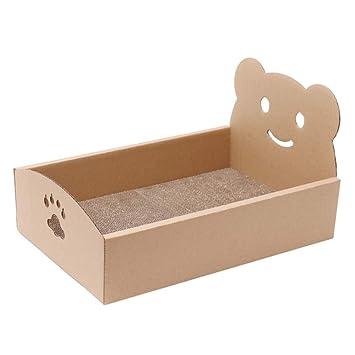 L&XY Gato Raspador Corrugado Casa De Gato Reciclable Cartón DIY Asamblea Scratch Pad Pad Cat Interior