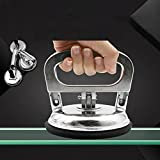 ETbotu Aluminum Alloy Glass Suction Cup Single-head Tile Sucker Handbarrow Handy Lifting Tool