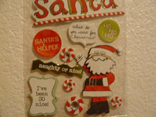Santa Soft Spoken 3d Embellishment