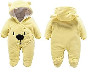 G-Kids Mono de forro polar para bebé, para invierno, para recién nacidos, niñas, con capucha