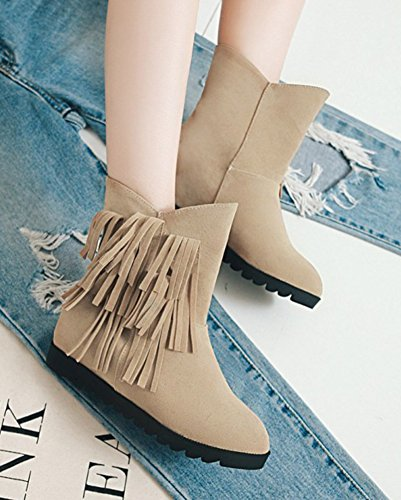 Fashion Compens Femme Franges Aisun Chaussures qw8fAnZ