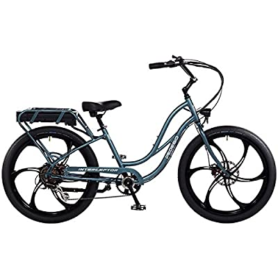 "Pedego Interceptor 26"" Step Thru Mineral Blue with Mag Wheels 48V 15Ah"