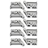 uxcell10Pcs 46x31x8mm 35mm DIN Rail End Screw Clamp Terminal Fixed Block Gray