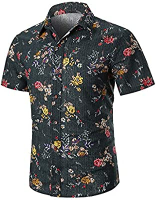 Camisa Hawaiana para Hombre Manga Corta Estampada de Palmas para Verano Oficina Camisa Negra Crop Top Camisas Hombre Camisas Manga Corta Hombre Camisa Verde Camisa Vaquera Hombre Jodier: Amazon.es: Deportes y aire