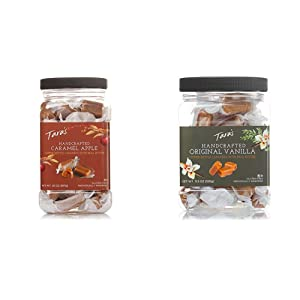 Tara's All Natural Handcrafted Gourmet Caramel Apple Flavored Caramels: Small Batch, 20 Ounce & All Natural Handcrafted Gourmet Original Madagascar Vanilla Caramel: Small Batch, 11.5 Ounce