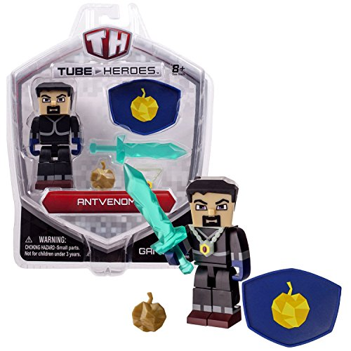 Jazwares Year 2015 TH Tube Heroes Series 3 Inch Tall Action Figure - ANTVENOM with Shield, Green Sword, Necklace and Apple