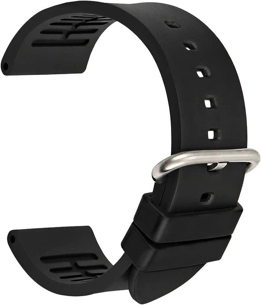 MAIKES Correa Reloj de Piel Replacement Reloj Banda 20 mm ...