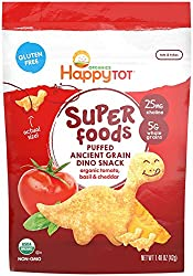 Happy Family Tot Super Foods Dino Snacks Tomato, Basil & Cheddar, 11.84 Ounce (pack Of 8)