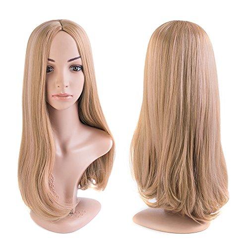 MelodySusieOmbre LongBlondeStraightWig - HighDensitySyntheticHairWeaveFullWigsForWomenPartyWigs (BlondeΠnk (Straight Blonde Wig)