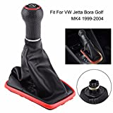 Daphot-Store - 5 Speed Synthetic Leather Car Gear Shift Knob Gearstick Gaiter Boot Kit For VW Jetta Bora Golf MK4 1999-2004 Car Styling