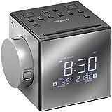 Sony ICFC1PJ.CEK Clock Radio with Time Projector - Black/Silver