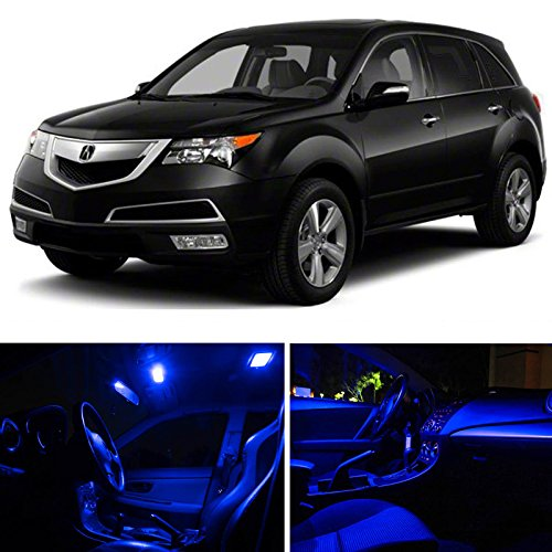 Acura Accessories Mdx (LEDpartsNOW 2007-2013 Acura MDX LED Interior Lights Accessories Replacement Package Kit (13 Pieces), BLUE)