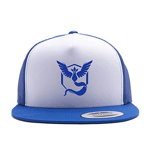 Pokemon Go Hat Team Mystic Trucker Hat Snap Back (One Size Fits All, Royal)