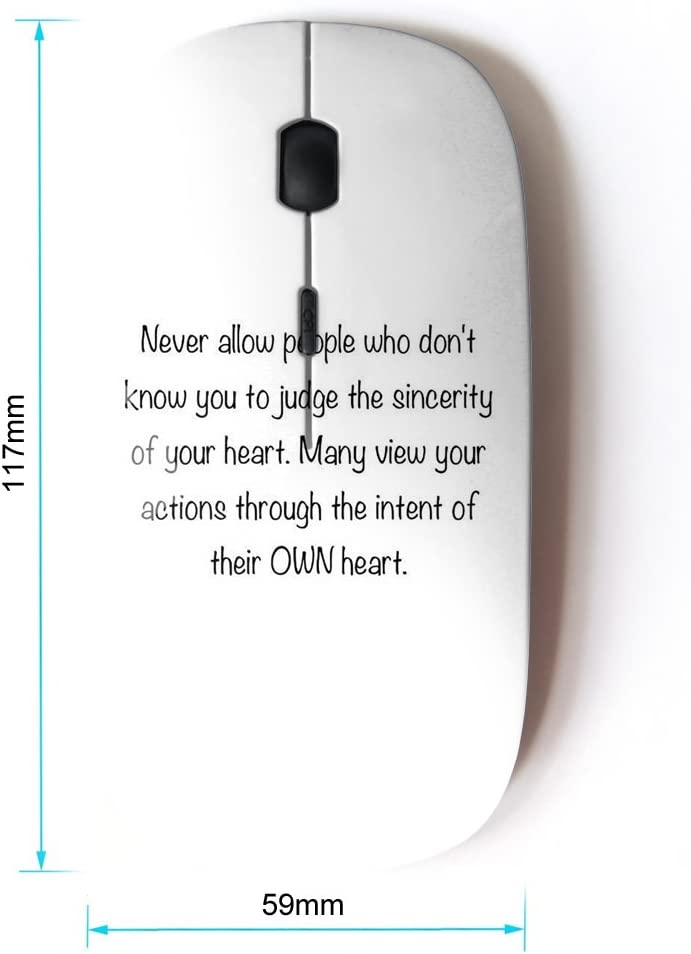 KOOLmouse Bible Verse Sincerity of Your Heart Optical 2.4G Wireless Computer Mouse