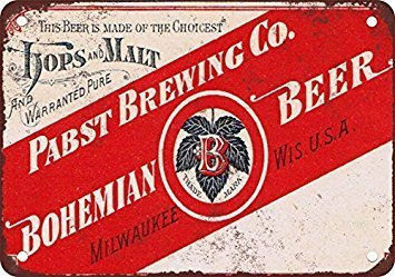 Pabst Bohemian Beer Vintage Look Reproduction Metal for sale  Delivered anywhere in USA