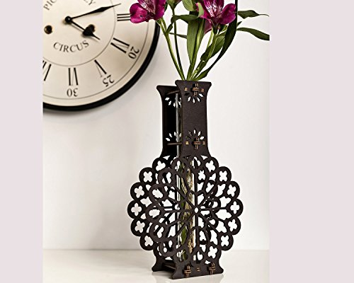 (Wooden Bud Vase, Handmade Single Flower Vase, 5 Year Anniversary, Wooden Anniversary, Rustic Home Decor, Wife Gift Wood, Wedding Gift Vase)
