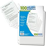 #6: Better Office Products 81450 Sheet Protectors, 100 Count