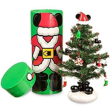 Amazon.com: Miniature Santa Mickey Mouse Christmas Tree with ...
