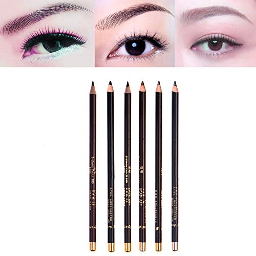 (6Colors/Set Dyeing Eyebrow Pencil Long-Lasting Waterproof Eyebrow Enhancer Paint Tint Dye With Eyebrow Stencils Makeup 6pcs eyebrow)