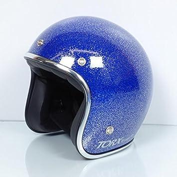 TORX Casco Moto Wyatt Shiny Glitter Blue: XXL