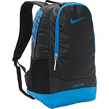 2d3af6277e Nike Team Training Max Air Large Backpack - Black Blue Glow  Amazon.co.uk   Sports   Outdoors