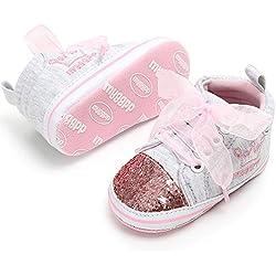 Unisex Baby Boys Girls Star High Top Sneaker Soft Anti-Slip Sole Newborn Infant First Walkers Canvas Denim Shoes