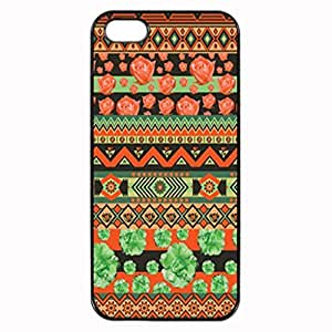GREEN AND ORANGE FLORAL AZTEC Pattern Image Protective Case For Iphone 6 4.7 Inch Cover S / Case For Iphone 6 4.7 Inch Cover Hard Plastic Case For Iphone 6 4.7 Inch Cover