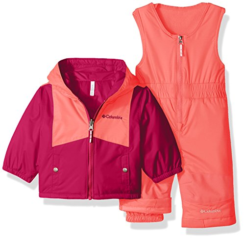 17a9a1a74 Columbia Baby Girls  Double Flake Reversible Bib and Jacket Set ...