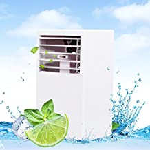 LUCKSTAR Desktop Air Conditioning Fan - Quiet Personal Mini Fan Air Cooler for Refrigeration & Humidification & Fresh Air (White)