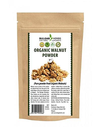 - Organic Walnut Powder - Pure and 100% powder from organic Walnuts - 7 Oz.