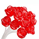 SUGARFREE Twinkle Pop Lollipops, Red Rose, Made in USA, Long-Stem 12 inch Lollipops, 37.80 Ounce,120 Count