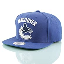 Mitchell & Ness Vancouver Canucks Wool Solid NT80Z Snapback Caps Basecaps NHL