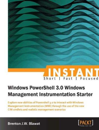 Download Instant Windows PowerShell 3.0 Windows Management Instrumentation Starter Pdf