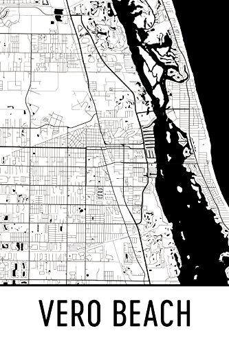 Vero Beach Print, Vero Beach Art, Vero Beach Map, Vero Beach Florida, Vero Beach Poster, Vero Beach Wall Art, Vero Beach Gift, Vero Beach Decor, Vero Beach Cityscape, Black and White