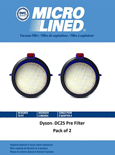 DVC Micro-Lined DVC Created Dyson DC25 HEPA Filter Pack of 2 by DVC Micro-Lined