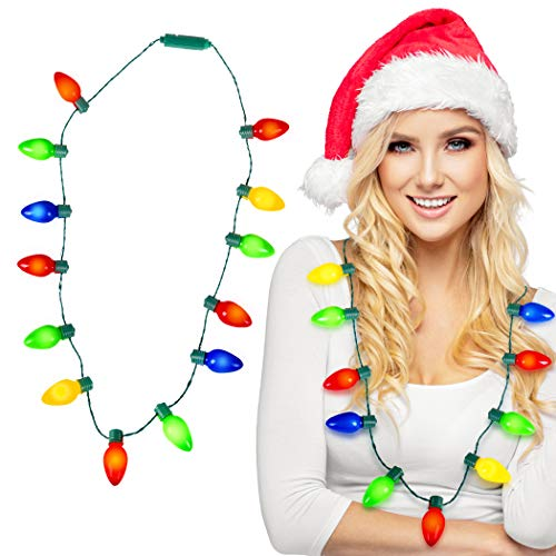 Kangaroo Deluxe Christmas Lights Necklace, Light-Up ()