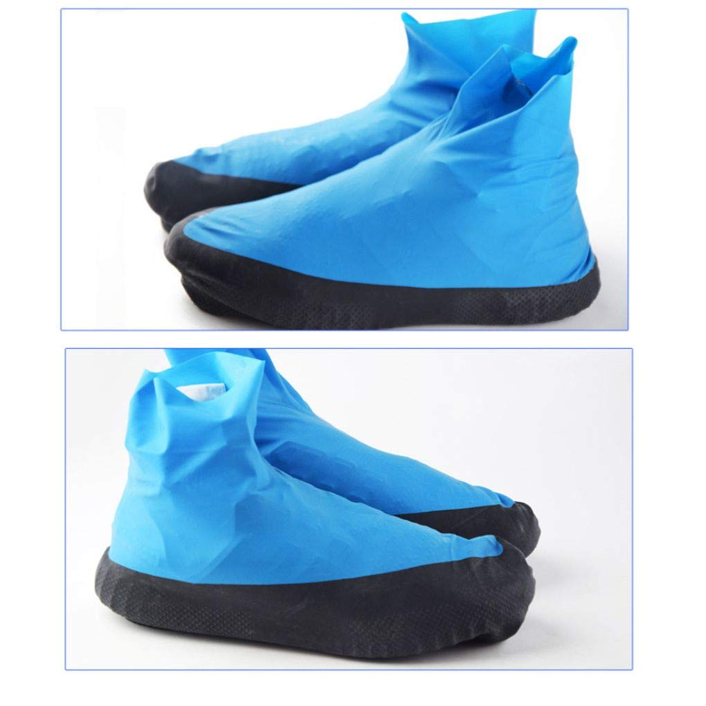 Luckiests Alto Tubo di Lattice Pioggia Impermeabili Copriscarpe Unisex ispessite monouso Boot Protector per Outdoor