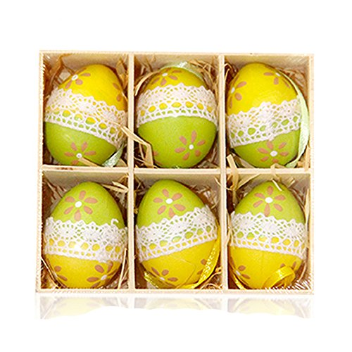 UMFun6pc Colorful Baby Kid Drawing Painting Easter Eggs Color Egg Birthday ()