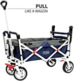Creative Outdoor Distributor Push Pull Wagon for Kids, Foldable with Sun/Rain Shade (NAVY) Review