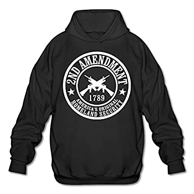 XJBD Men's Homeland Security Novel Sweatshirt Black