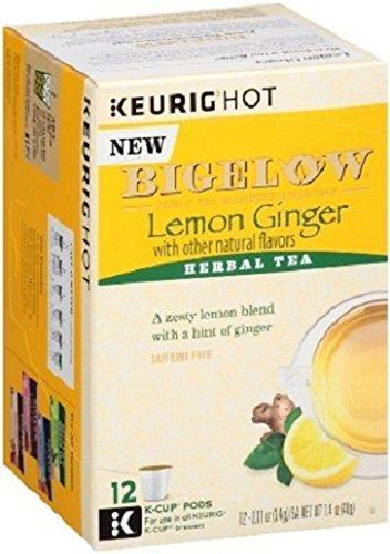 Bigelow Lemon Ginger Keurig K-Cups, Box of 12 Cups , Single