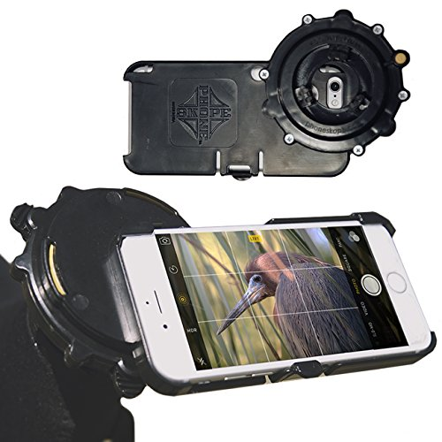 Universal Digiscoping Adapter Iphone 6 Phone Skope Case for Spotting Scope, Binocular, Microscope, Zoom Camera
