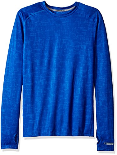 (Duofold Men's Light Weight Thermatrix Performance Thermal Shirt, Surf the Web Glitch Texture, M)