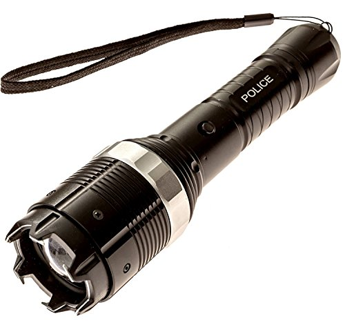 POLICE-SECURITY-8810-700000000-Heavy-Duty-Stun-Gun-Rechargeable-With-LED-Zoom-Tactical-Flashlight