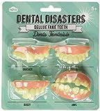 NPW dentaire Catastrophes Deluxe Faux dents (Lot de 4)