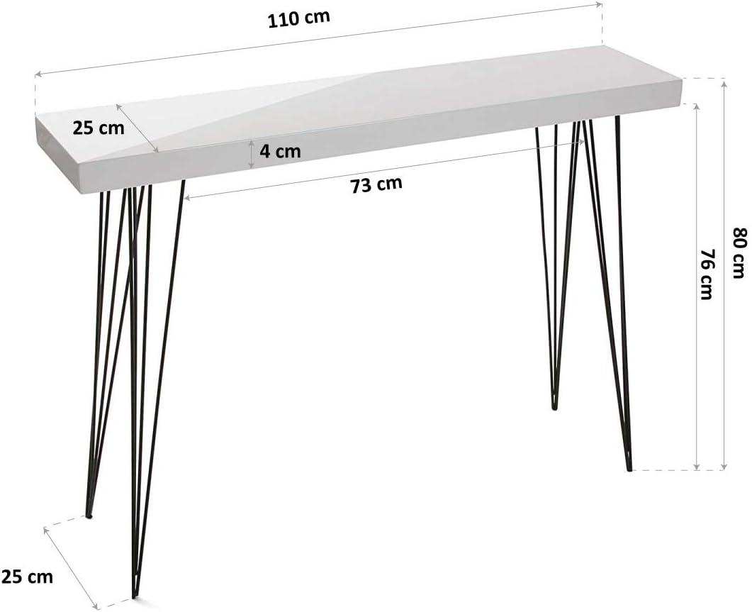 Versa Dallas receiver cabinet 80 x 25 x 110 cm
