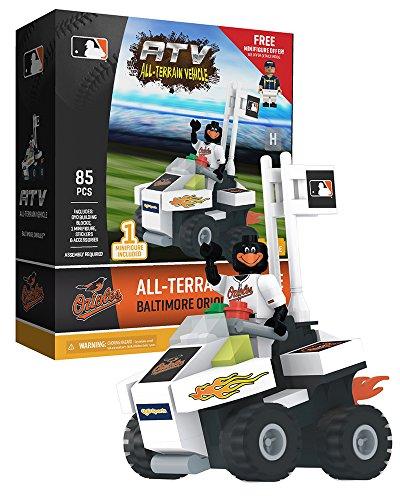 (Oyo Sportstoys MLB Baltimore Orioles ATV Set with Mascot Minifigure, Small, White)