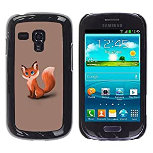 Impact Case Cover with Art Pattern Designs FOR Samsung Galaxy S3 MINI 8190 Cute Foxy Fox Betty shop