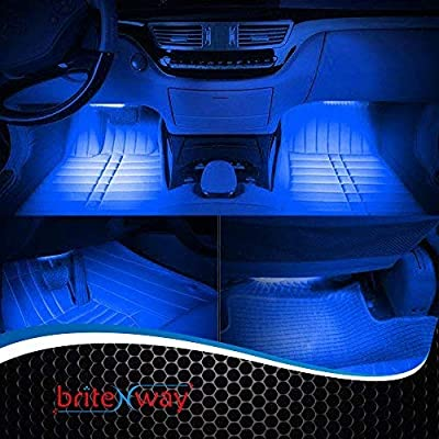 BRITENWAY Car Interior Lights Gadget - 7 Colors and Multiple Pattern for Front & Back Underdash Decoration Lighting Accessories 12v Music Rhythm & Sound Activation Function: Automotive